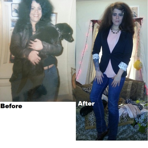 "beforeandafterfatlosspics:  cassandra-secrest Here is my before and after. In the before I am 180 pounds. In the after photo, I am 145. I am 5'6"". :)"