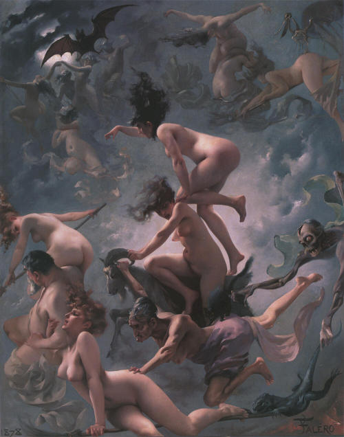 "strange-is-good:  ""Witches Going To Their Sabbath"" (1878), by Luis Ricardo Falero"