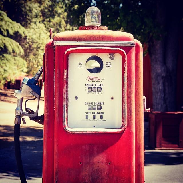 Fill 'er up! Wait, you don't have unleaded?  #gaspump #fuel #vintage