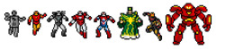 vip8bits:  I think people are cooling off on The Avengers 8 Bit Challenge sets — I got what equated to a few sad faces for the selections at a recent show.  So I decided to NIX those prints and come up with a BRAND NEW SET!  Inspired by the upcoming Iron Man 3 (Marvel Studios), this batch is order specific — with only THE BEST pieces going to players who are in it for the long haul!  Do you dare to play — CAN YOU HANDLE YO' BIT-NESS??! (Lol)
