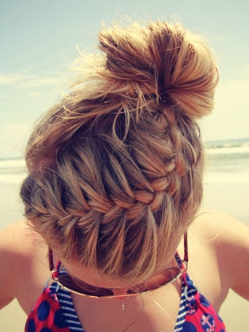 Braid hair.