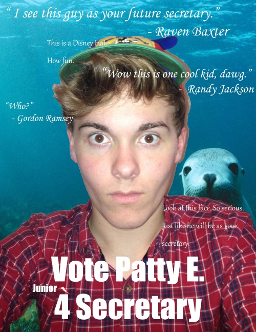 my junior class office campaign pic