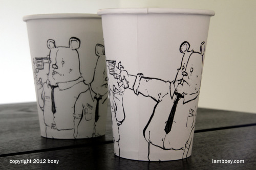 fer1972:  Drawings on Coffee Cups by Boy Obsolete