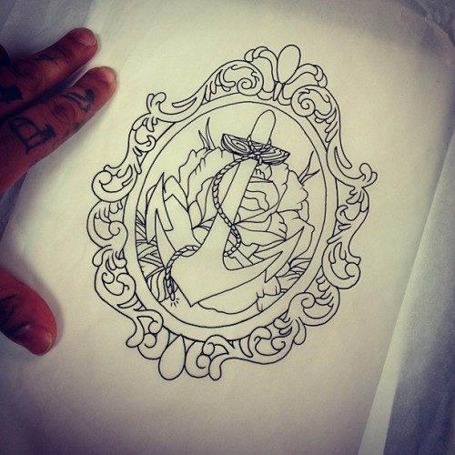 Some art #tattoo #tattoos #tattooshop #tattooflash #tattooartist #tagsforlikes #anchor #frame #art #artist #draw #drawing #rad #illustration #sketch #follow #girlswithtattoos