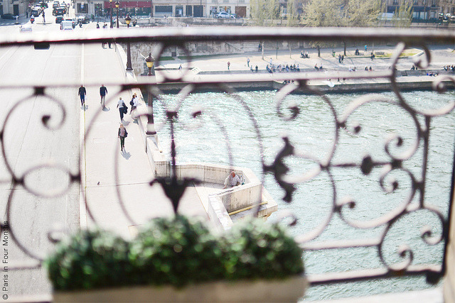 | ♕ |  Seine view from Paris apt. | by © Carin Olsson| via ysvoice