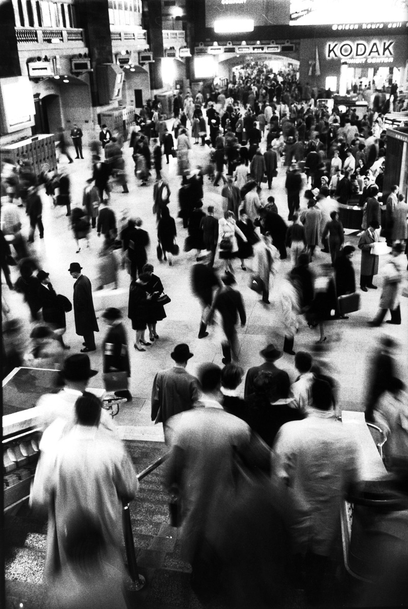 life:  This photograph by LIFE's Alfred Eisenstaedt taken in Grand Central Terminal manages to capture the hustle and bustle of the city we call home. See more photos here. (Alfred Eisenstaedt—Time & Life Pictures/Getty Images)