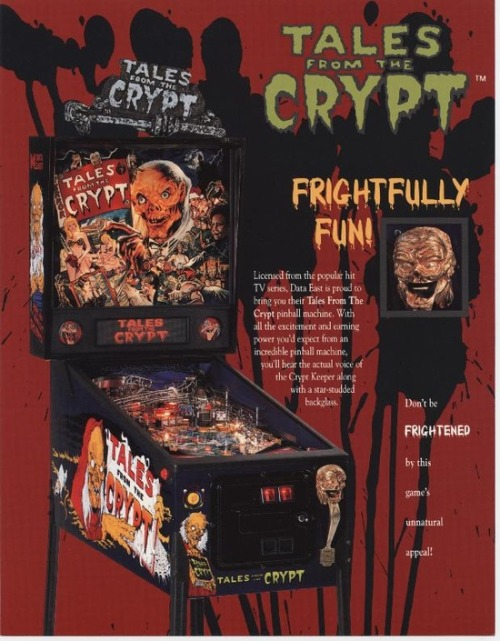 Tales From The Crypt Pinball Machine.   Someone buy this for me please, I want it in my room.
