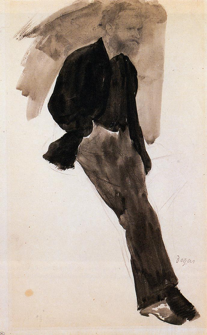 psychotic-art:  Edouard Manet Standing - Edgar Degas  Degas was such a genius. Seeing some of his work in Chicago was beyond amazing and brought me to tears.