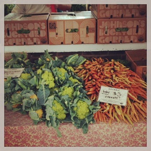 Yummy…baby carrots… (at HOPE Farmers Market)