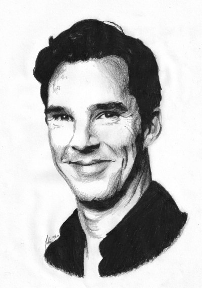 benedict-cumberlicious:         Smilingbatch                                                                                            (Black pencil - 3½ hours)   Good Lord!!! This is AMAZING!!