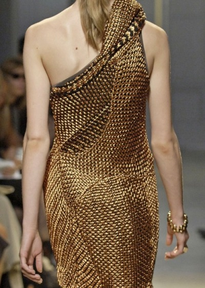 What Would Khaleesi Wear?Dothraki woven gold dress