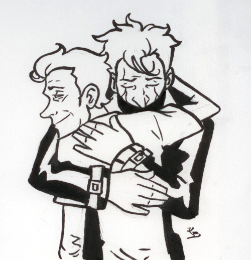 blithefool:  Here's a reunion hug for betterthanlegos. I'm going to go cry now.  Ow, my heart.