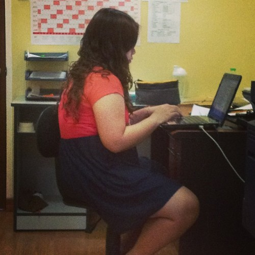 My new Assistant! Ahm, dili diay. Ang bag-ong Madam sa office @iamdafina …😜😉 (at german house, libertad)