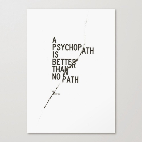 wrdbnr:  Psychopath, Stretched Canvas