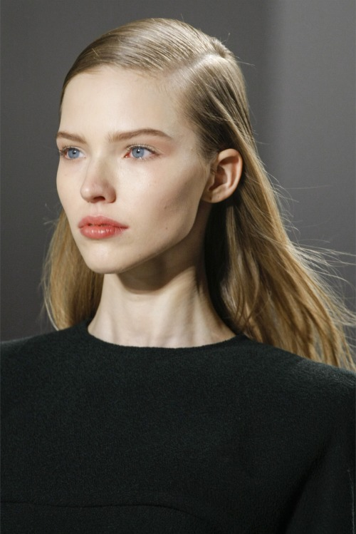 simulated:  Sasha Luss at Calvin Klein Fall 2013