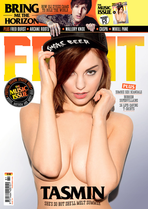 Don't worry we still have a sexy cover for issue 181 also, here it is in all its glory. Featuring the lovely Tasmin, go buy it in the shops now!
