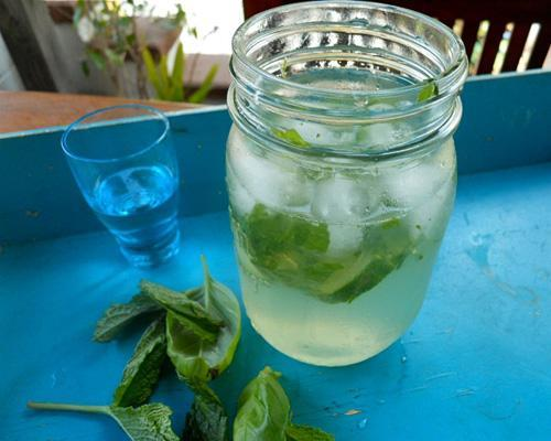 Recipe: Mint and Cucumber Mmm Cocktail Because that's exactly what you'll be saying after sipping this deceptively easy herbal cocktail.  See more garden-inspired cocktails.
