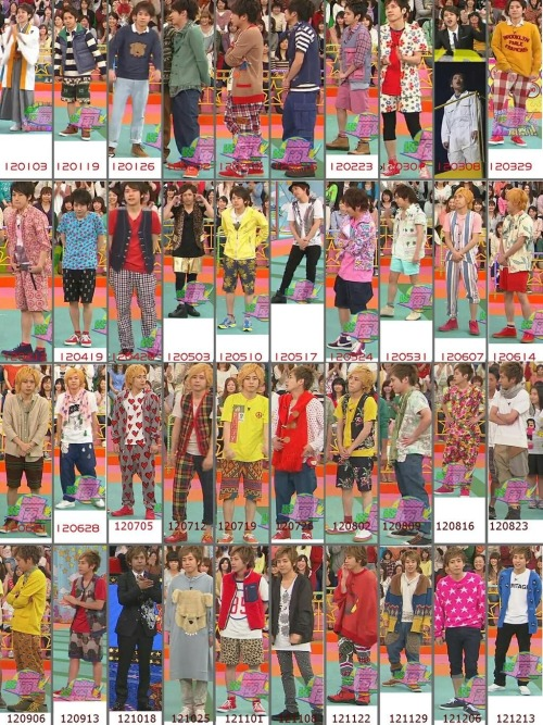 laugh-with-me-aiba:  Compilation of nino's famous fashion sense in VS Arashi My favourite? The heart outfit. haha cr:weibo