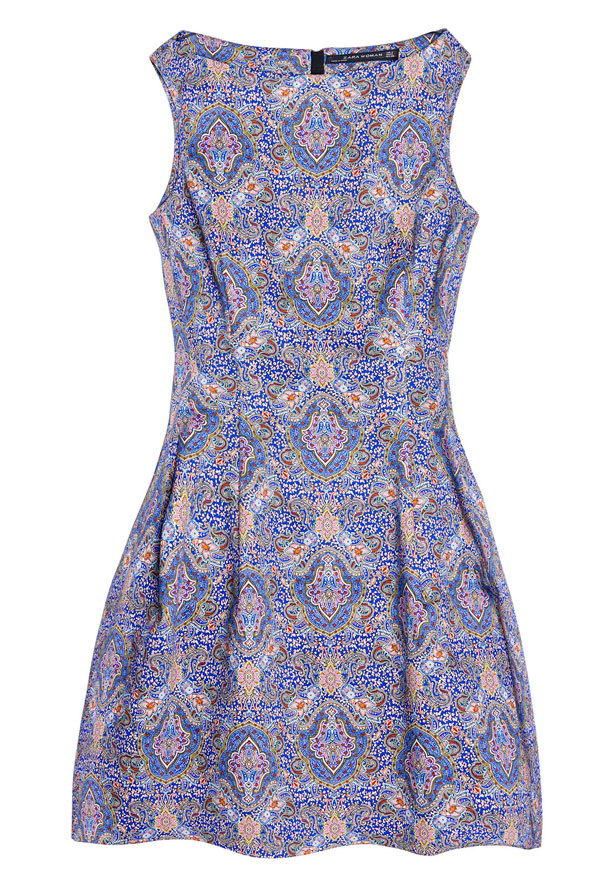 Zara Paisley Printed Dress