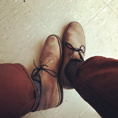 Can't go wrong with Clarks and Levi's.
