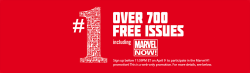 The Marvel 700 promotion is back, folks. Follow the instructions EXACTLY to guarantee that you will have access to a plethora of free digital comics starting April 11th. If you have any questions, feel free to send me an ask.  Note: Just refresh the page if it doesn't immediately load.