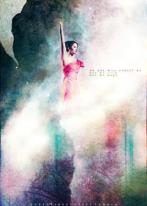 mutedlikesunset:  Katniss. The girl who was on fire.