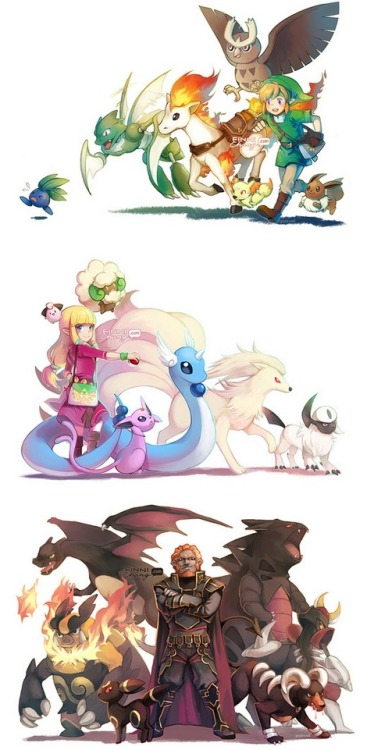 If the Legend of Zelda Characters were Pokemon Trainers.