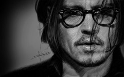 Portrait of Johnny Depp by ~S-A—K-I