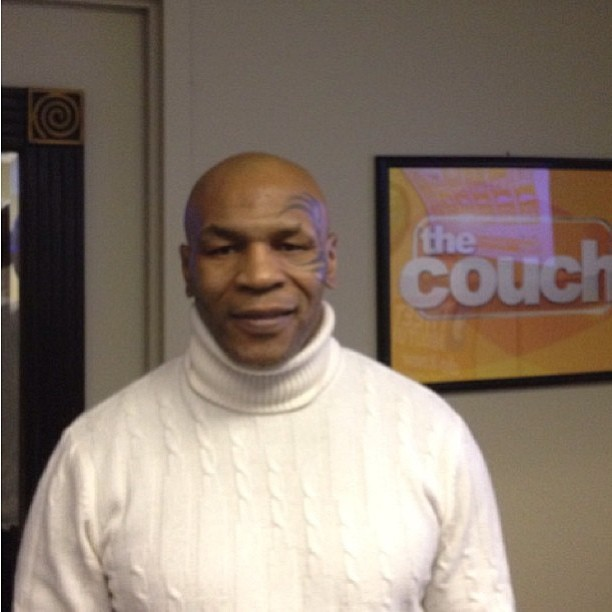 Regram @miketyson killin it in the turtle neck game.