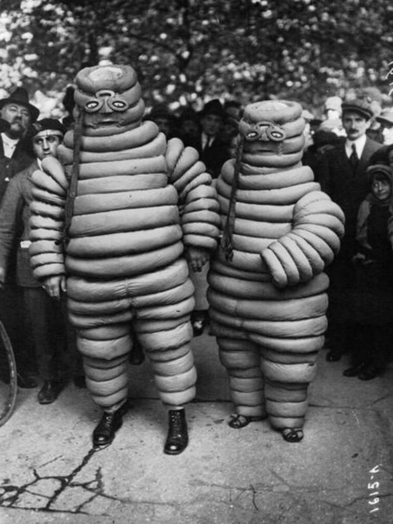 back-then:Michelin Man. Early 1900s