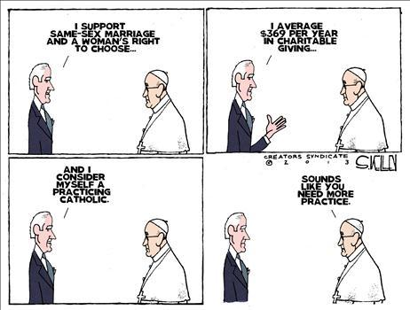 Cartoon: Biden the Catholic  . . #funnystuff #liberal logic #politically correct . . ☆☆☆ PERMALINK ☆☆☆          ☆☆☆ HOME ☆☆☆