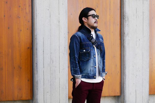 wantering: HeadPorter Plus Used Denim Jacket