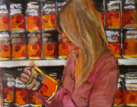 Blond with yams. Walmart paintings, Brendan O'Connel