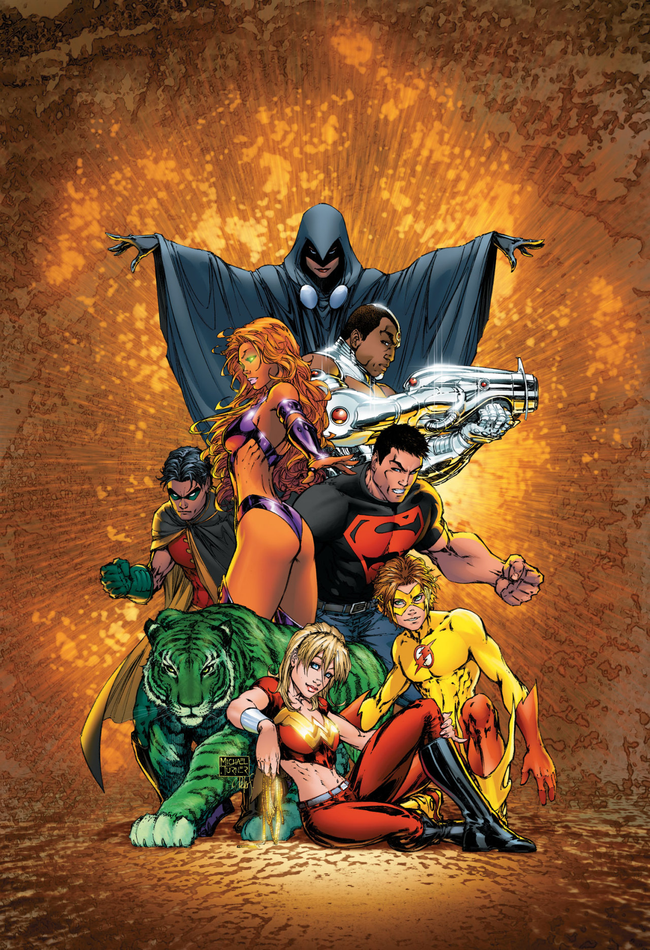 The Teen Titans by Michael Turner