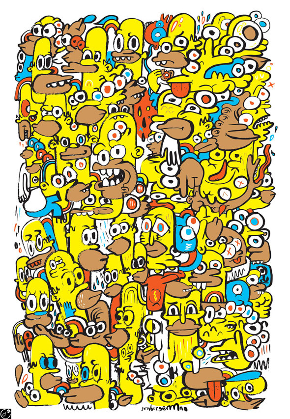 Homerogeneous by Jon Burgerman