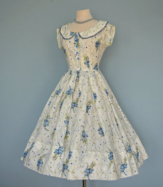 creativemuggle:  1950's party dress