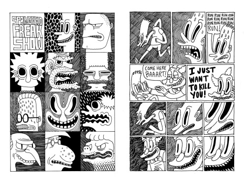 Some preview pages of a comic from my sketchbook.