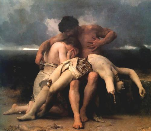 Death of a Cyborg (original painting by William Bouguereau)