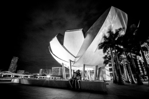 """Alone Together"" - Marina Bay, Singapore, Asia, 2013 Photo by Mario Grudnick"