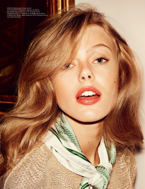 labellefabuleuse:  Frida Gustavsson photographed by Hasse Nielsen for Cover, April 2013