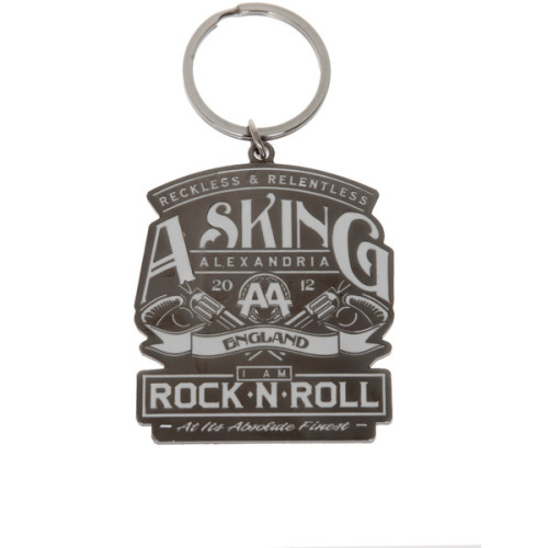Asking Alexandria Metal Key Chain | Hot Topic   ❤ liked on Polyvore