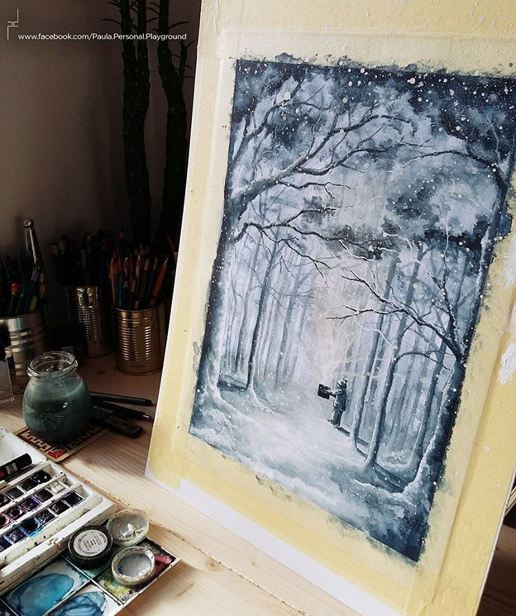Wip… Time to add some more magic and snow. :)