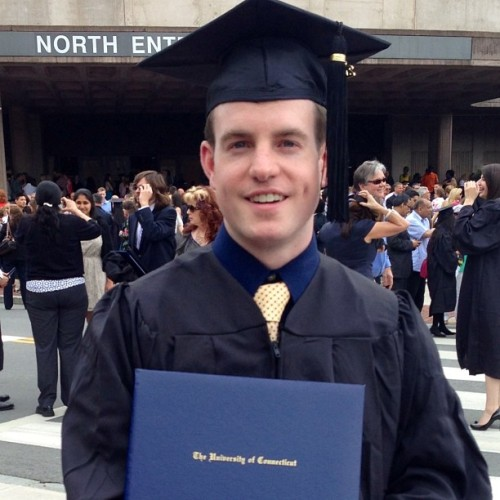 kylegreggy:  After completing my degree in December, walked today at UConn's Commencement. Thank you to my family, girlfriend, friends, and everyone else I have met along the way. You are all special and influenced my life in more ways than you can know. Off to the next chapter in my life: graduate school. #uconn #me #graduation  I'm so proud of my younger brother.