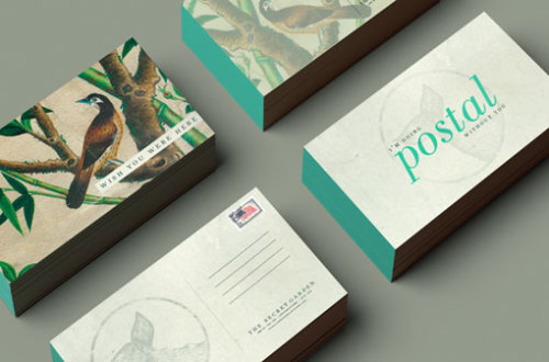 (via Design Work Life » Booth: The Secret Garden Brand Identity and Collateral)