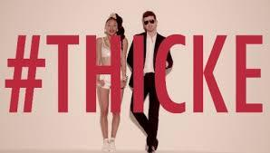 WAY TO GO THICKE, KEEPING A GIRL UP.  I feel so happy, you wanna hug me. What rhymes with hug me?  MUTHAAA—- -R