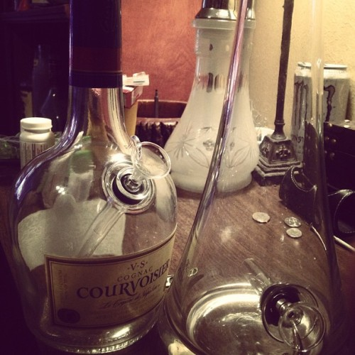 BranBrand ;) at it again #bong #waterpipe #courvoisier #conversion #1&done #reborn