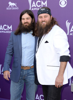 Duck Dynasty's Jep and Willie Robertson || 48th Annual Academy of Country Music Awards at the MGM Grand Garden Arena in Las Vegas on April 7, 2013
