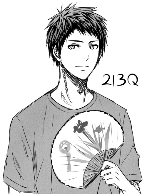 te-tsu-ya:  *AGGRESSIVELY DRAWS FANART OF KUROKO'S CHILDHOOD FRIEND, GENTLY STROKES HIS HAIR*