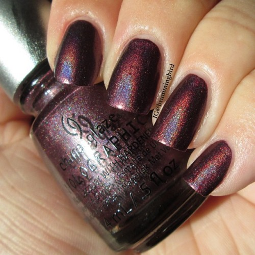 "truthteller:  China Glaze ""When Stars Collide,"" this is the last swatch I did before I realized I really wanted to trim my nails!  need"