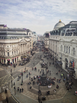 Piccadilly Circus view, London by © Mike Rolls | via travelingcolors